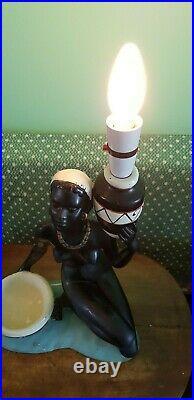1950's Retro Large Nude Lady Chalkware Lamp Tretchikoff era 893600 Duron