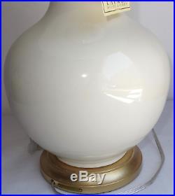 2 Ralph Lauren Large Porcelain Gold Ginger Jar Ceramic Traditional Table Lamps