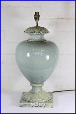 A Large Quality Valsan Ceramic Table Lamp Antique Style Crackle Glaze