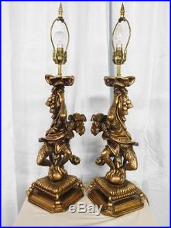 An Impressive Pair Of Large Vintage Monkey Table Lamps
