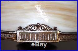 Antique 1920's Large Arts & Crafts Slag Glass Table Lamp Handel, Tiffany Era