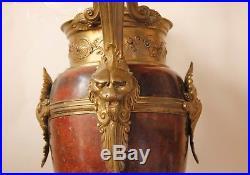 Antique Empire Style Bronze/Marble Large Massive Table/Parlor Lamp c. 1880s