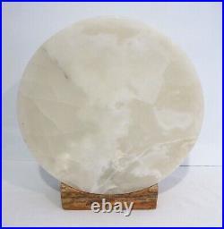 Artisan Onyx Stone Full Moon Shape Large Table Lamp Best Quality & Workmanship