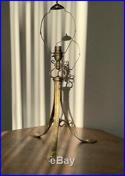 Arts & crafts Birmingham Guild Of Handicraft Large Adjustable Table Lamp No 11