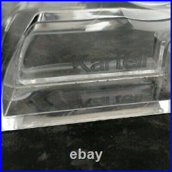 Authentic Kartell Bourgie Transparent Crystal Large Lamp