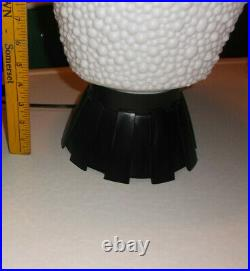 Awesome! Large 28 White Beehive Bubble Lamp Mid Century