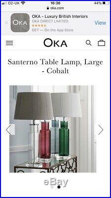 Beautiful OKA Cranberry Santerno Lamps X 2 -LARGE