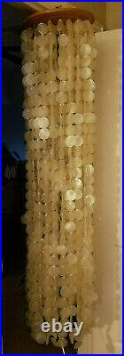 Beautiful Vintage 70's Large 5' CAPIZ Shell Hanging Lamp PreOwned