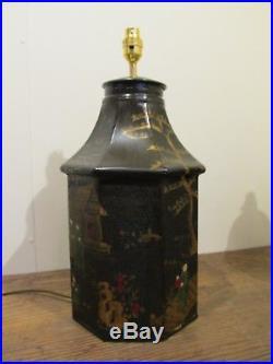 Black Pair Of Tea Tins Tea Caddy Large Pair Of Table Lamps Side Lamp