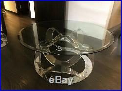 Coffee Table Side Lamp Table Glass Large And Small
