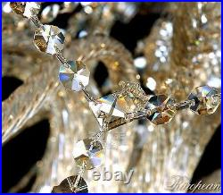 Cognac Large 18 arms Luxury Crystal Chandelier Light Pandent Lamp Wall Fixtures