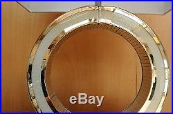 Diamond Crush Modern Design O Large Table Lamp 69cm Faux Silk White Shade