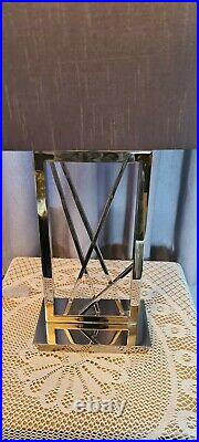 EX Show home RV Astley Carinne Large Table Lamp Nickle Grey Shade rrp £265