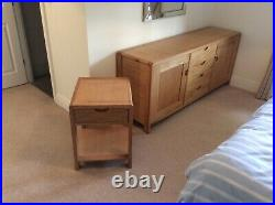 Ercol Bosco Large sideboard and Two Matching Lamp Tables