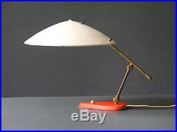 Exceptional large Mid Century Modern metal table lamp with two joints