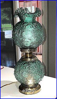 Fenton Art Glass 24 Poppy Gone With The Wind Spruce Green