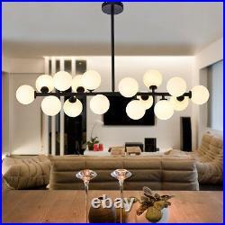 Glass Pendant Light Large Chandelier Lighting Bar Black Lamp Home Ceiling Lights