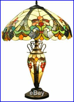 Glass Table Lamp Large Tiffany Table Light 68cm Home Decor Colourful Lights
