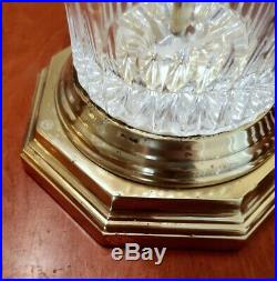 Gorgeous Large Vintage Waterford Cut Crystal Table Lamps