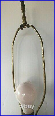 HOLLYWOOD REGENCY Vintage Dancing Harlequin Chalk ware Table lamp Metal Legs