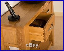Hampton Solid Oak Large Telephone Lamp Hall Console Table