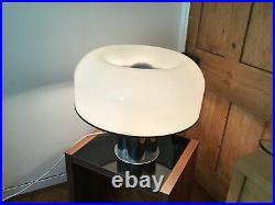 Harvey Guzzini Large Table Lamp Chrome Rare