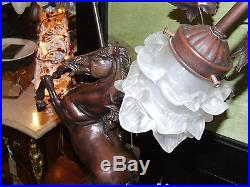 Horse Large Table Lamp Bronze Art Deco Home Office Traditional Living Bedroom
