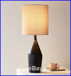 John Lewis & Partners Asymmetry Ceramic Large Table Lamp, Black RRP £179