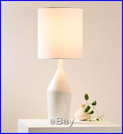 John Lewis & Partners Asymmetry Ceramic Large Table Lamp, White RRP £179