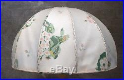 Josef Frank for Swedish Tenn large art deco table lamp with floral fabric screen