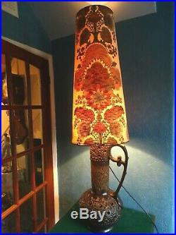 LARGE RARE RETRO 1960s 70s HEAVY BASE 54 HIGH TABLE / FLOOR LAMP LAVA W. GERMAN