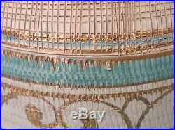 LARGE VINTAGE 60s MANNER of SASHA BRASTOFF ITALIAN CERAMIC MARBRO TABLE LAMP 48