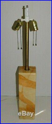 LARGE Vintage 1960s Walter Von Nessen MARBLE Table Lamp Mid Century Modern