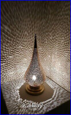 Lamp Moroccan Desk Table Handmade Lamp Vintage Large Lantern Handcrafted Antique