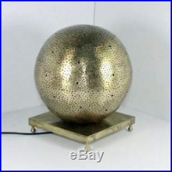 Lamp Moroccan Table Brass Light Handmade Style Vintage Lantern Mid Decor Diy