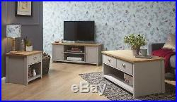 Lancaster Living Room Furniture Coffee Table Lamp Table TV Cabinet Cream / Grey