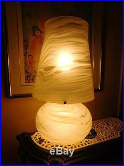 Large 1960's Murano Mushroom MID Century Venini 2 Way Table Lamp