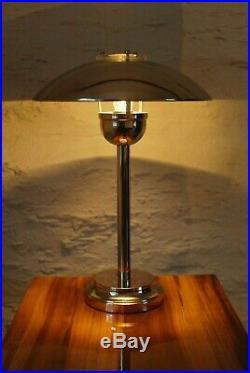 Large 1970's Chrome Table Lamp