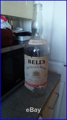 Large 4.5Litre OLD Bells whisky bottle moneybox table lamp etc