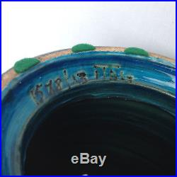 Large 44cm Vintage 1960s Bitossi Aldo Londi Rimini Blue Pottery Table Lamp