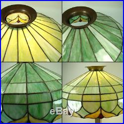 Large All-Original Art Nouveau Leaded Table Lamp 1910