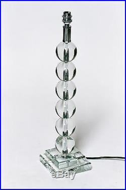 Large Glass Crystal Six Ball Table Lamp 56 cm High