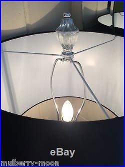Large Gold Chunky Base Modern Table Lamp Black Shade Bedside Lighting
