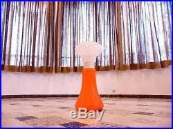 Large ITALIAN Mid-Century Modern GLASS Floor & TABLE LAMP Leuchte 1960er 1960s