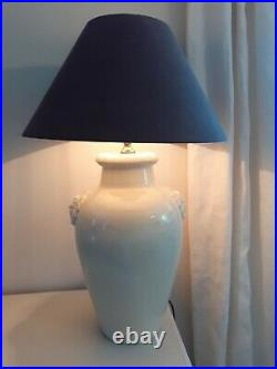 Large India Jane lion head table lamp with shade (2 available, price pr)