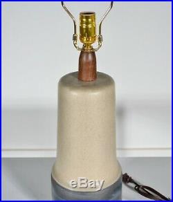 Large Jane & Gordon Martz Marshall Studios Blue & Tan Ceramic Table Lamp