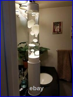 Large Lava Lamp Table Tower White