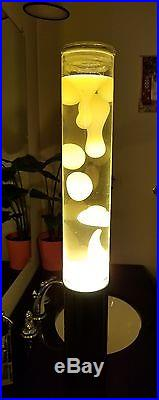Large Lava Lamp Table Tower Yellow