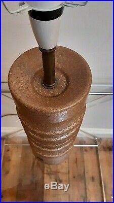 Large MCM Vintage'Sheerlite' Doulton Lamp Base & Period Retro Shade Complete