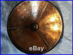 Large Mica Lamp Company 19 Solid Copper Mission Arts & Crafts Mica Table Lamp